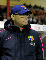 FC Barcelona's Manager,Xavier Llorens  - Photo mandatory by-line: Joe Meredith/JMP - Mobile: 07966 386802 - 13/11/2014 - SPORT - Football - Bristol - Ashton Gate - Bristol Academy Womens FC v FC Barcelona - Women's Champions League