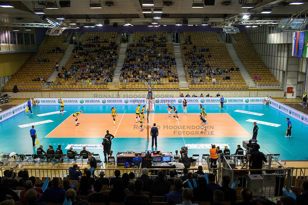 26-11-2015 SLO: Champions League Calcit Ljubljana - VakifBank Istanbul, Ljubljana<br /> View on field Hala Tivoli<br /> <br /> ***NETHERLANDS ONLY***