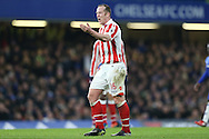 Charlie Adam of Stoke City reacting .Premier league match, Chelsea v Stoke city at Stamford Bridge in London on Saturday 31st December 2016.<br /> pic by John Patrick Fletcher, Andrew Orchard sports photography.