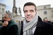 Roberto Cota partecipa al sit-in di protesta della Lega, contro la bocciatura del referendum sulla riforma Fornero, in piazza del Quirinale, Roma 21 gennaio 2015.  Christian Mantuano / OneShot
