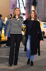 """Jennifer Aniston and Reese Witherspoon filming a late night scene in Manhattan's 5th Avenue for their latest Tv Project """"THE MORNING SHOW"""". 10 May 2019 Pictured: Jennifer Aniston and Reese Witherspoon. Photo credit: LRNYC / MEGA TheMegaAgency.com +1 888 505 6342"""