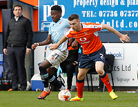 Blackpool's Bright Osayi-Samuel battles with Luton Town's Stephen O'Donnell<br /> <br /> Photographer David Shipman/CameraSport<br /> <br /> The EFL Sky Bet League Two - Luton Town v Blackpool - Saturday 1st April 2017 - Kenilworth Road - Luton<br /> <br /> World Copyright © 2017 CameraSport. All rights reserved. 43 Linden Ave. Countesthorpe. Leicester. England. LE8 5PG - Tel: +44 (0) 116 277 4147 - admin@camerasport.com - www.camerasport.com