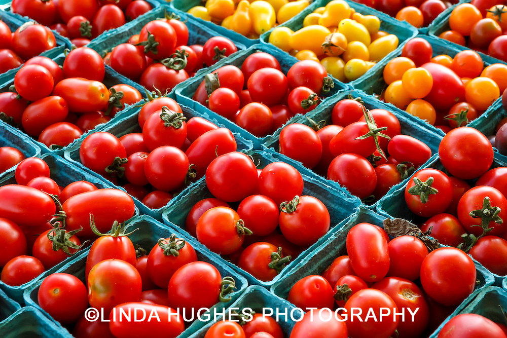 Cherry tomatoes for sale at a local farmer's market