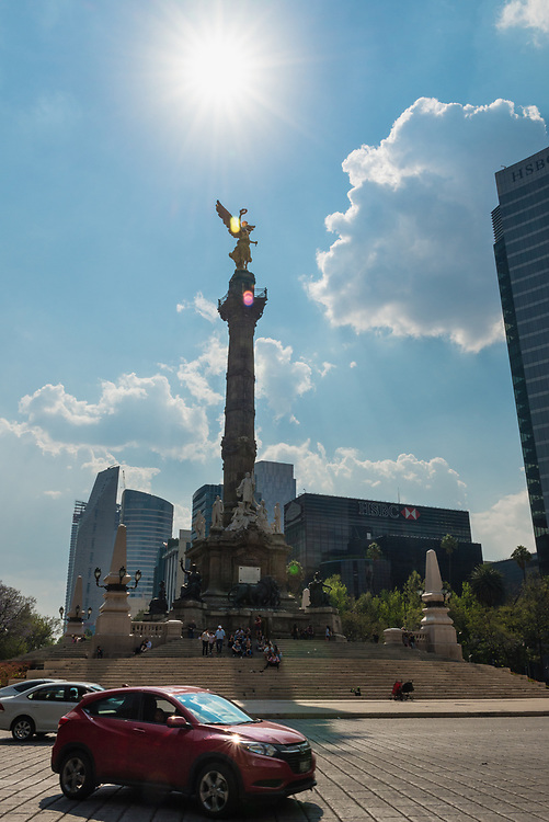Angel of Independence monument in Mexico City