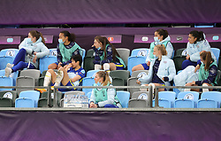 The Chelsea bench seems dejected during the UEFA Women's Champions League final, at Gamla Ullevi, Gothenburg. Picture date: Sunday May 16, 2021.