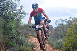 WORCESTER, SOUTH AFRICA - MARCH 21: Dylan Rebello during stage three's 122km from Robertson to Worcester on March 21, 2018 in Cape Town, South Africa. Mountain bikers from across South Africa and internationally gather to compete in the 2018 ABSA Cape Epic, racing 8 days and 658km across the Western Cape with an accumulated 13 530m of climbing ascent, often referred to as the 'untamed race' the Cape Epic is said to be the toughest mountain bike event in the world. (Photo by Dino Lloyd)
