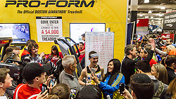 Boston Marathon: Expo, Tyler Andrews after he sets world record for half marathon on treadmill 1:03:37