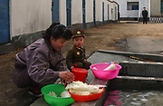 North Hwanghae Province, North Korea<br /> <br /> Yonson<br /> WES project site - water and sanitation funded by Unicef  (scene is somewhat staged for our visit!)<br /> <br /> <br /> ©Jeremy Horner<br /> 15 Mar 2004