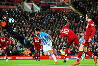 Liverpool's Sadio Mane scores his side's fourth goal <br /> <br /> Photographer Alex Dodd/CameraSport<br /> <br /> The Premier League - Liverpool v Huddersfield Town - Friday 26th April 2019 - Anfield - Liverpool<br /> <br /> World Copyright © 2019 CameraSport. All rights reserved. 43 Linden Ave. Countesthorpe. Leicester. England. LE8 5PG - Tel: +44 (0) 116 277 4147 - admin@camerasport.com - www.camerasport.com