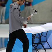 USA swimmer Michael Phelps after his special achievement award presentation at the Aquatic Centre at Olympic Park, Stratford during the London 2012 Olympic games, London Olympics. London, UK. 4th August 2012. Photo Tim Clayton