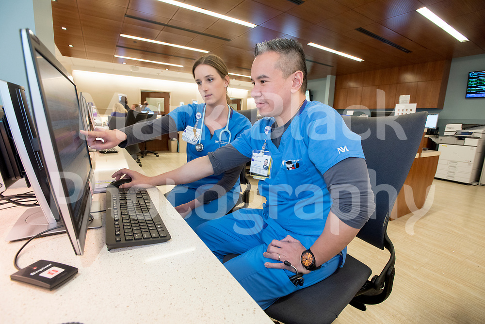Delnor staff Nurses Jennifer Guy and Jasper Lim were part of the staff who quickly assessed a patient who presented with symptoms of measles and contacted the Infection Prevention team immediately using safety behavior tools.