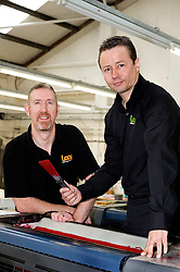 Trevor French and Managing Director Chris Gray LOOP printers Harvest Lane Sheffield S3 8EG  Business Link Yorkshire Case Study..13  May 2010 .Images © Paul David Drabble.