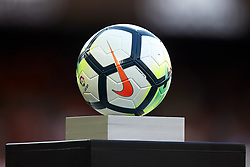 April 18, 2018 - Valencia, Valencia, Spain - Official ball of La Liga during the La Liga game between Valencia CF and Getafe CF at Mestalla on April 18, 2018 in Valencia, Spain  (Credit Image: © David Aliaga/NurPhoto via ZUMA Press)
