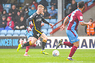 Lewis O'Brien of Bradford City (39) in action during the EFL Sky Bet League 1 match between Scunthorpe United and Bradford City at Glanford Park, Scunthorpe, England on 27 April 2019.