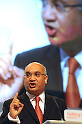 © Licensed to London News Pictures. 28/09/2011. LONDON, UK. (L-R) Keith Vaz MP delivers a speech at The Labour Party Conference in Liverpool today (28/09/11). Photo credit:  Stephen Simpson/LNP