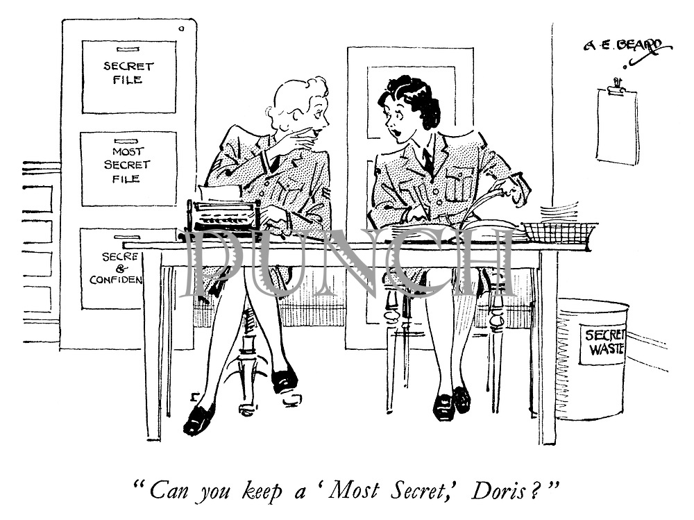 """Can you keep a 'Most Secret,' Doris?"""