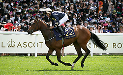 Yolo Again ridden by Jockey Niall McCullagh goes to post for the Queen Mary Stakes