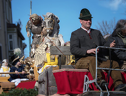 02.04.2018, Traunstein, GER, Georgi Ritt Traunstein 2018, im Bild St. Georgs Wagen // during the traditionell Georgi Ritt on Easter Monday in. in Traunstein, Germany on 2018/04/02. EXPA Pictures © 2018, PhotoCredit: EXPA/ Erst Wukits