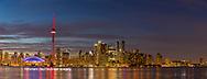 60912-00315 Toronto skyline at night from Toronto Island Park Toronto, Ontario Canada