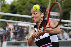 May 22, 2019 - Paris, France - Tamara Korpatsch of Germany in action during the first qualifications round of Roland Garros against Paula  Badosa Gibert of Spain, on 22 May 2019 in Paris, France, (Credit Image: © Ibrahim Ezzat/NurPhoto via ZUMA Press)