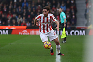 Joe Allen of Stoke City runs up the wing. Premier league match, Stoke City v Leicester City at the Bet365 Stadium in Stoke on Trent, Staffs on Saturday 17th December 2016.<br /> pic by Chris Stading, Andrew Orchard sports photography.