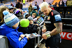 Jack Nowell of Exeter Chiefs signs autographs  - Mandatory by-line: Dougie Allward/JMP - 30/11/2019 - RUGBY - Sandy Park - Exeter, England - Exeter Chiefs v Wasps - Gallagher Premiership Rugby