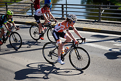 Anna van der Breggen (NED) in the Spring sunshine at La Flèche Wallonne Femmes 2018, a 118.5 km road race starting and finishing in Huy on April 18, 2018. Photo by Sean Robinson/Velofocus.com