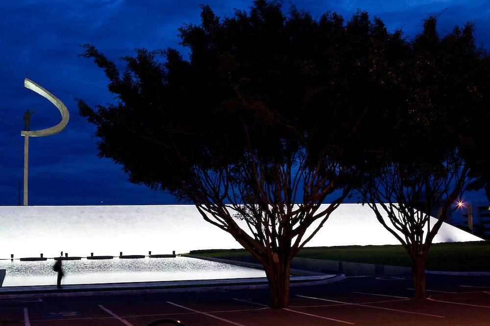 Brasilia_DF, Brasil...O Memorial JK é um museu na cidade de Brasília projetado por Oscar Niemeyer...The Memorial JK in Brasilia, project by Oscar Niemeyer...Foto: JOAO MARCOS ROSA / NITRO