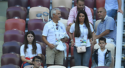 Jamie Vardy of England's wife Rebekah Vardy during the 2018 FIFA World Cup Russia Semi Final match between England and Croatia at Luzhniki Stadium on July 11, 2018 in Moscow, Russia. Photo by ABACAPRESS.COM