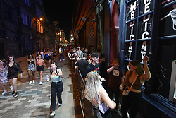 © Licensed to London News Pictures. 19/07/2021. Liverpool, UK. Revellers queuing up outside Electric night club in Liverpool after lockdown restrictions were eased in England..  Photo credit: Ioannis Alexopoulos/LNP