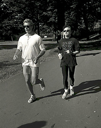 File photo dated 15/08/1987 of Madonna out jogging with her minder in Green Park, near her hotel in Mayfair, London. The pop superstar will celebrate her 60th birthday on Thursday, following a long career of reinvention and controversy.