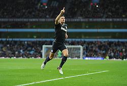 Aaron Cresswell of West Ham United celebrates his goal. - Mandatory byline: Alex James/JMP - 07966 386802 - 26/12/2015 - FOOTBALL - Villa Park - Birmingham, England - Aston Villa v West Ham United - Barclays Premier League