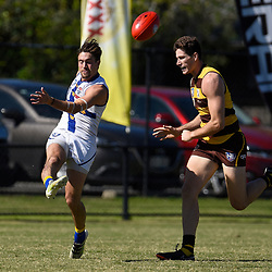 BRISBANE, AUSTRALIA - MAY 19:  during the NEAFL Round 7 match between Aspley Hornets and Sydney University on May 19, 2018 in Brisbane, Australia. (Photo by Patrick Kearney)