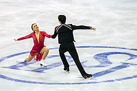 KELOWNA, BC - OCTOBER 26: Canadian figure skaters Marjorie Lajoie and Zachary Lagha compete during ice dance free dance of Skate Canada International held at Prospera Place on October 26, 2019 in Kelowna, Canada. (Photo by Marissa Baecker/Shoot the Breeze)