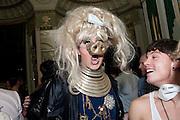 DANIEL LISMORE,  Philip Sallon's mass paranoia swine flu birthday party. DRESS: DISEASE RELATED OR SWINE, Home House. Portman Sq. London. 13 November 2009.