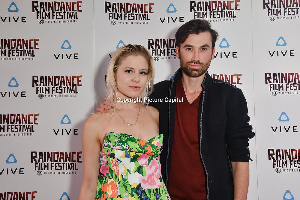 Ruud op den Kelder is a Creative Development and Chagall van den Berg  is a UX Designer nominated attends the Raindance Film Festival - VR Awards, London, UK. 6 October 2018.
