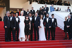May 20, 2017 - Cannes, France - BYUNG HEEBONG, GUEST, STEVEN YEUN, TILDA SWINTON, AHN SEO-HYUN, DIRECTOR BONG JOON-HO, PAUL DANO, LILY COLLINS, JAKE GYLLENHAAL AND DEVON BOSTICK - RED CARPET OF THE FILM 'OKJA' AT THE 70TH FESTIVAL OF CANNES 2017 (Credit Image: © Visual via ZUMA Press)