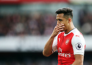 Arsenal's Alexis Sanchez looks on dejected during the Premier League match at the Emirates Stadium, London. Picture date: April 2nd, 2017. Pic credit should read: David Klein/Sportimage