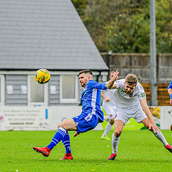 Zack Kotwica and Connor Riley challenge for the ball at the Swindon Supermarine Webbswood 24/10/2020