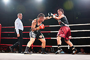 Geovana Peres (black shorts) and Lani Daniels (red shorts)<br /> Geovana Peres v Lani Daniels, Women's WBO Light Heavyweight World Title fight at SKY City, Auckland on Saturday 30 March 2019.<br /> copyright photo: Bex Charteris - Sports Photographer