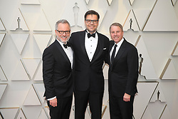 February 24, 2019 - Los Angeles, California, U.S - RICH MOORE, PHIL JOHNSTON AND CLARK SPENCER during red carpet arrivals for the 91st Academy Awards, presented by the Academy of Motion Picture Arts and Sciences (AMPAS), at the Dolby Theatre in Hollywood. (Credit Image: © Kevin Sullivan via ZUMA Wire)