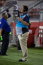 SANTA CLARA, USA - Saturday, July 30, 2016: A sound recordist during the International Champions Cup 2016 game between Liverpool and AC Milan on day ten of the club's USA Pre-season Tour at the Levi's Stadium. (Pic by David Rawcliffe/Propaganda)