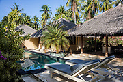 INDONESIA, Karimunjawa Archipelago, Kura Kura Resort, the private villa with the pool