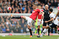 Morgan Schneiderlin of Manchester United in action. Barclays Premier league match, Tottenham Hotspur v Manchester Utd at White Hart Lane in London on Sunday 10th April 2016.<br /> pic by John Patrick Fletcher, Andrew Orchard sports photography.