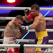 Gennady Golovkin of Khazakhstan ()R) fights Kamil Szeremeta of Poland during the IBF middleweight world title fight at the Seminole Hard Rock Hotel and Casino in Hollywood, Florida USA on 18, Dec 2020. Photo: Alex Menendez