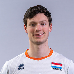 Just Dronkers of Netherlands, Photoshoot selection of Orange men's volleybal team season 2021on may 11, 2021 in Arnhem, Netherlands (Photo by RHF Agency/Ronald Hoogendoorn)