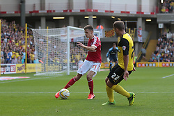Nottingham Forest's Jamie Paterson is challenged by Watford's Almen Abdi  - Photo mandatory by-line: Nigel Pitts-Drake/JMP - Tel: Mobile: 07966 386802 25/08/2013 - SPORT - FOOTBALL -Vicarage Road Stadium - Watford -  Watford v Nottingham Forest - Sky Bet Championship