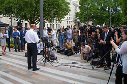 Assistant Commissioner Neil Basu addresses the media outside New Scotland Yard in London following the death of Dawn Sturgess, 44, from suspected Novichock poisoning in Wiltshire. London, July 09 2018.