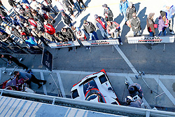 January 25, 2019 - Daytona, FL, U.S. - DAYTONA, FL - JANUARY 25: Fans look on at the #7 Acura Team Penske Acura DPi of Helio Castroneves, Ricky Taylor, and Alexander Rossi as it sits in its garage stall following practice for the Rolex 24 at Daytona on January 25, 2019 at Daytona International Speedway in Daytona Beach, Fl. (Photo by David Rosenblum/Icon Sportswire) (Credit Image: © David Rosenblum/Icon SMI via ZUMA Press)
