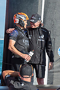 Emirates Team New Zealand Principal Matteo de Nora and Main sail trimmer Glen Ashby after winning the America's Cup against Luna Rossa Prada Pirelli Team 7 - 3.  Wednesday the 17th of March 2021. Copyright photo: Chris Cameron